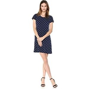 Navy Polka Dot Dress Size 10 NEW